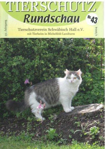 PDF-Format - Tierschutzverein Schwäbisch Hall