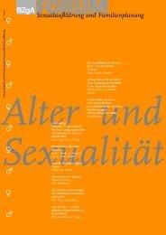 Forum Sexualaufklärung und Familienplanung – Alter und Sexualität