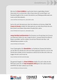 Feuerwehren und Kommunalfahrzeuge - Vertikal.net