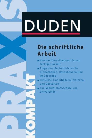 Leseprobe zum Titel: Die schriftliche Arbeit - Die Onleihe
