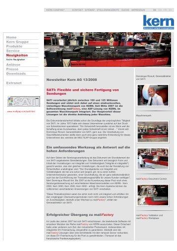 kern - newsletter 13 2008 deutsch.pdf - Kern AG
