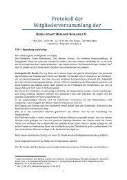 Protokoll zur Mitgliederversammlung 2012 - Gesellschaft Berliner ...