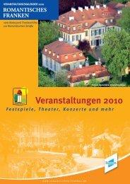 Veranstaltungskalender 2010f.indd - Romantisches Franken