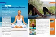 DIETOP 10 YOGA SEMINARHÄUSER - ONEWORLD retreats
