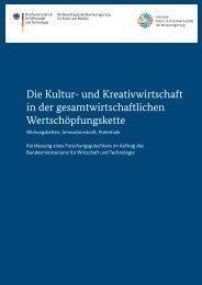 Die Kultur- und Kreativwirtschaft in der gesamtwirtschaftlichen ...