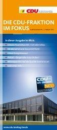 aktuelle Fraktionsmagazin - CDU Kreisverband Ludwigsburg