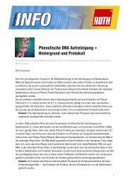 Phenolische DNA-IsolationHintergründe und Protokoll - Carl Roth