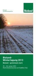 Bioland- Wintertagung 2013 - Öko-Landbau-Beratung