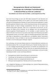 Demographischer Wandel und Arbeitsmarkt - Auswirkungen des ...