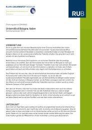 Studieren in I Bologna (SoSe 2013) - Fakultät für Sozialwissenschaft ...