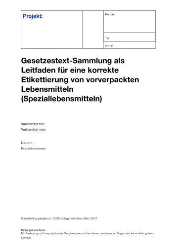 Etikettierung von Lebensmitteln - marketing-paepke.ch