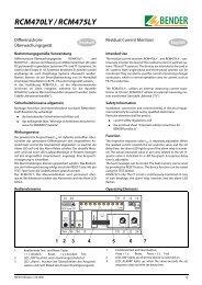 RCM470LY / RCM475LY - Bender Benelux BV