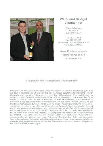 Wein- und Sektgut Jesuitenhof - Landwirtschaftskammer Rheinland ...