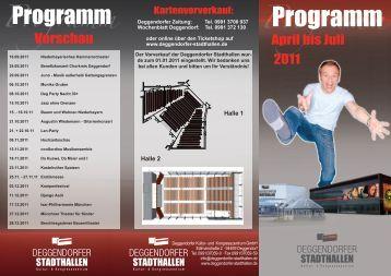 Programm - Stadthallen Deggendorf