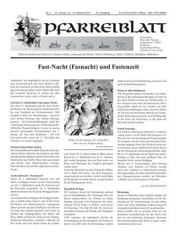 Fast-Nacht (Fasnacht) und Fastenzeit - Kath-glarus.ch