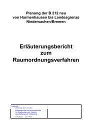 Erläuterungsbericht zum Raumordnungsverfahren - Niedersachsen