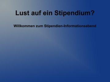 Präsentation vom Stipendien-Infoabend am 06.12.2011