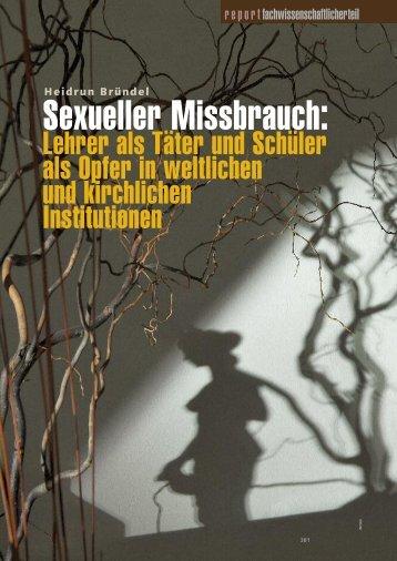 Sexueller Missbrauch: Lehrer als Täter und Schüler als Opfer ... - BDP