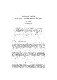 Vorlesungskonzeption - Institut für Mathematik - HU Berlin