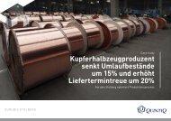 Kupferhalbzeugproduzent senkt Umlaufbestände um 15 ... - Quintiq
