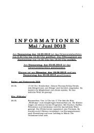 I N F O R M A T I O N E N Mai / Juni 2013 - Mörzheim