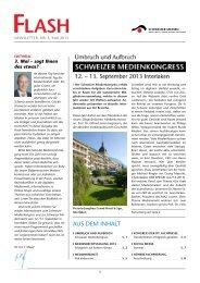 auS dEM INHaLT - Verband Schweizer Presse
