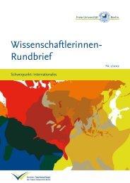 Wissenschaftlerinnen-Rundbrief 02/2012 mit dem Schwerpunkt