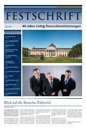 Die vfm-Festschrift zu 40 Jahre Liebig Finanzdienstleistungen