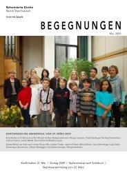 Begegnungen - Mai 2009 - Reformierte Kirche Zug