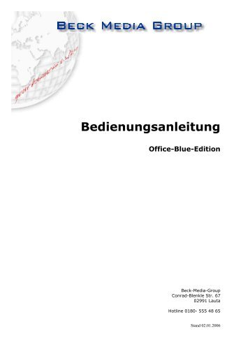 Bedienungsanleitung - Warengruppen