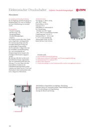 Datenblatt Elektronischer Druckschalter / Schalttafel Control-Desk