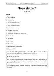 8.Newsletter 09.04.2013 - StuRa Universität Leipzig