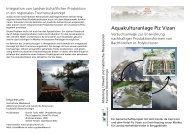 Aquakulturanlage Piz Vizan - Institut für Umwelt und Natürliche ...