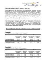 Netzentgelte 2013 - Steißlingen