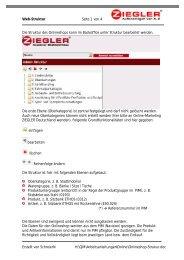 Web-Struktur Seite 1 von 4 Erstellt von SchreierN H:\QM ... - Ziegler