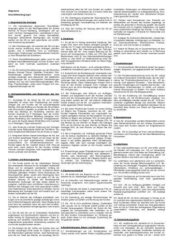 muster agb fr werbeagenturen - Arbeitsvertrag Muster Ihk