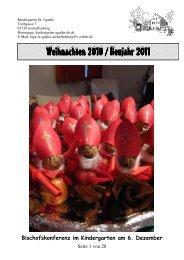 Weihnachten 2010 / Neujahr 2011 Weihnachten 2010 / Neujahr 2011