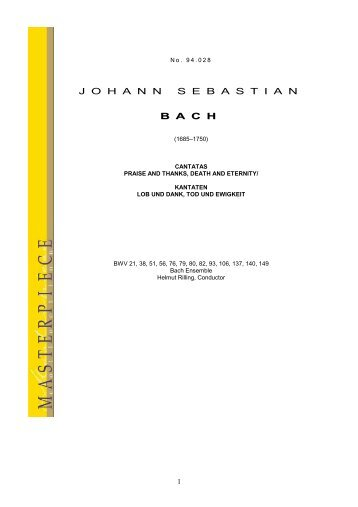 J O H A N N S E B A S T I A N B A C H - Naxos Music Library
