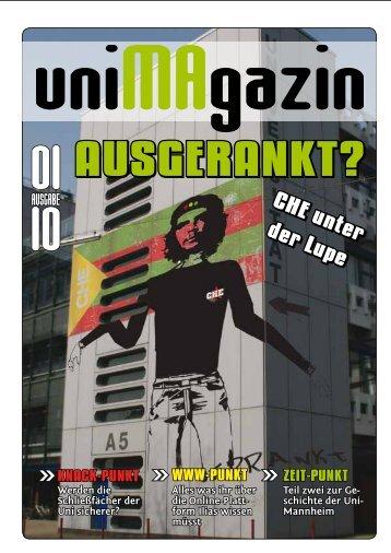 uniMAgazin 01/2010 - Uni-MA-gazin.de