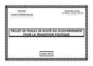 projet de feuille de route du gouvernement pour la transition politique