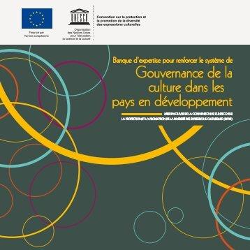 Gouvernance de la culture dans les pays en développement - Unesco