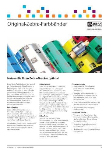 Original-Zebra-Farbbänder