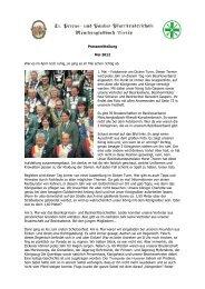 Pressemitteilung Mai 2012 War es im April noch ruhig, so ging es im ...