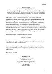 Anlage 4 Bekanntmachung des Entwurfs einer ... - Gewerbeaufsicht