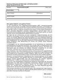 Gemeinschaftspraxis für Radiologie und Nuklearmedizin Zeitzer ...