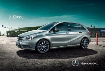 Das Prospekt der B-Klasse (W246) von Mercedes-Benz.