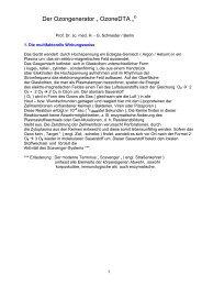 Allgemeinmedizinischer Bericht von Prof. Dr. Schneider