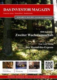 Das Investor Magazin - Ausgabe 51