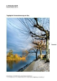 Tagtäglich Ferienstimmung am See. - Lindauer-Immobilien