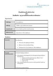 Funktionsbeskrivelse for Indkøbs- og produktionskoordinator
